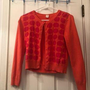 Orange Polka Dot Cardigan Sweater!